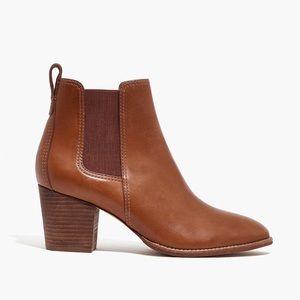 NEW Madewell Regan Block Heel Leather Bootie 5.5